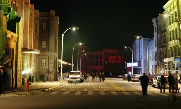 Korda Studios New York backlot set 9