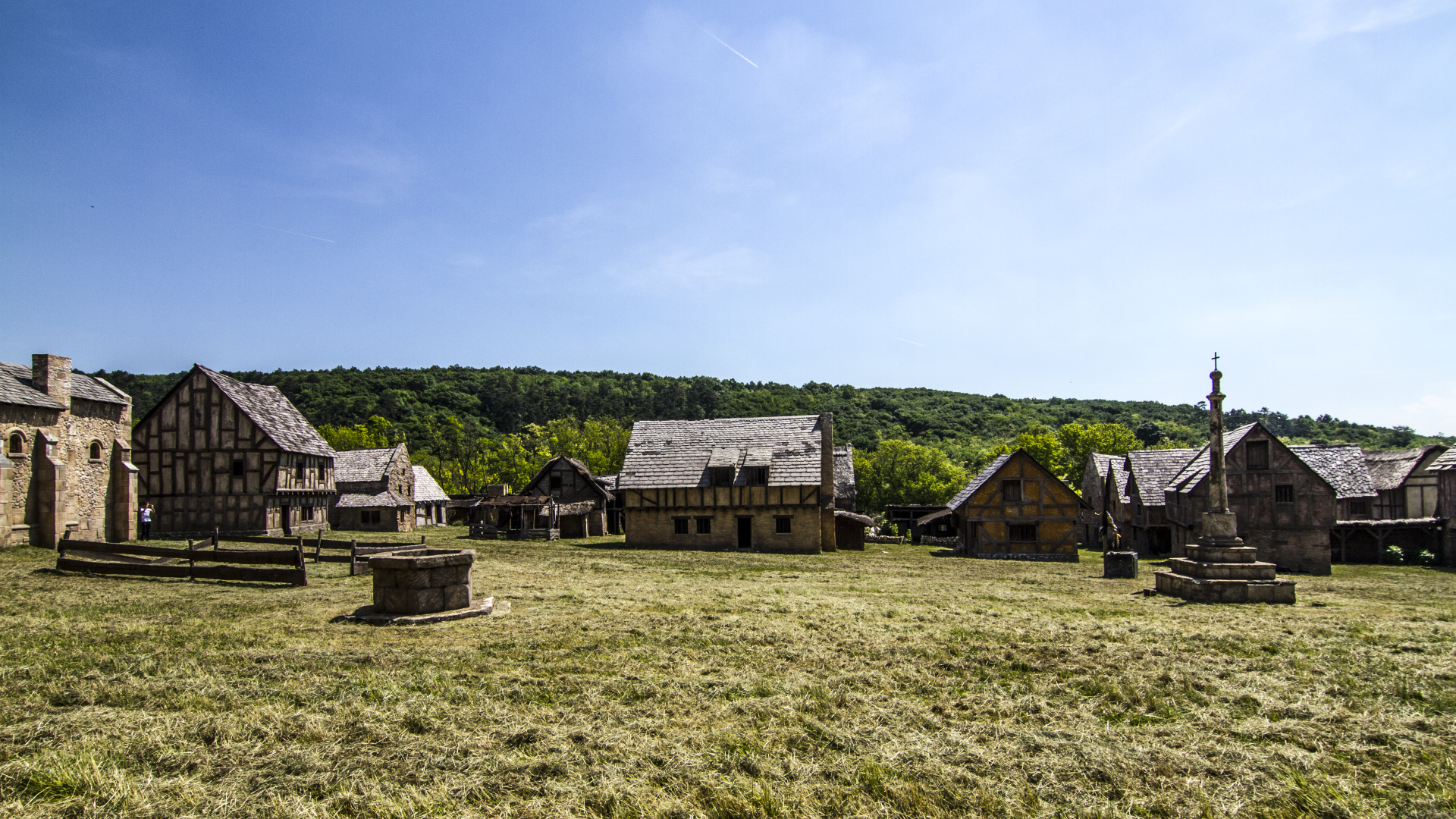 Travel in time to Medieval village